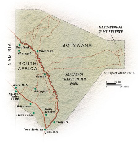 South-Africa-Kgalagadi-map
